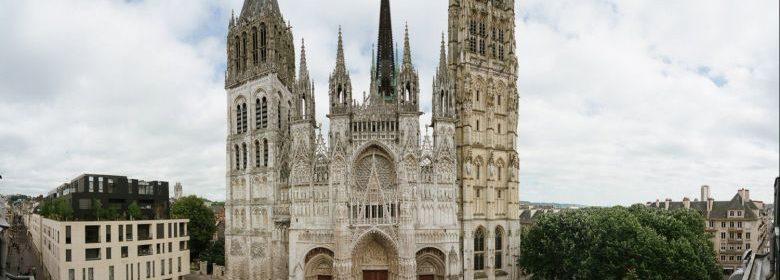 Une vue de la cathédrale Notre-Dame de Rouen