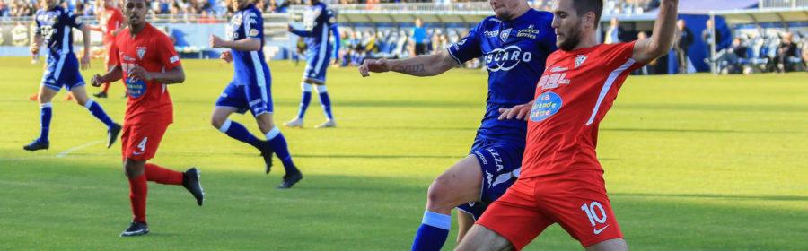 Une action du match entre Gallia Lucciana et le SC bastia