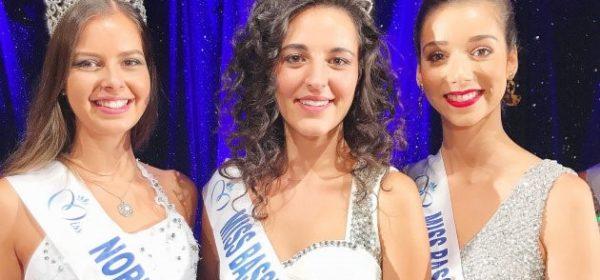 Justine Geslin élue Miss Basse-Normandie 2018 entourée d'Alexane Dubourg, Miss Normandie 2017, et de Naurenn Marshall, Miss Basse-Normandie 2017