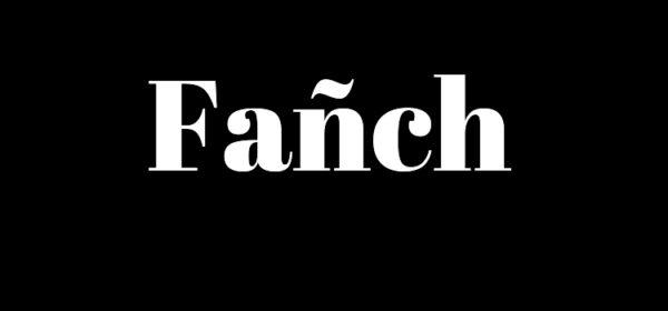 Le mot Fañch écrit sur un fond noir.