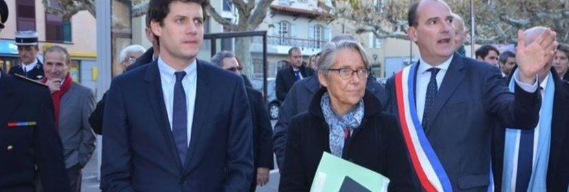 Le maire de Prades, Jean Castex, en compagnie d'Elisabeth Borne, la ministre de la transition écologique et solidaire.